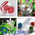 10 PCS Clear Plastic Fillable DIY Craft Ball Ornament Christmas Tree Decoration