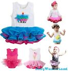 New Baby Girls One Piece Tulle Tutu Dress Birthday Party Skirt Romper Size 0-2Y