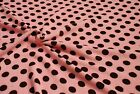 Double Sided Supersoft Cuddlesoft Fleece Fabric Material - PINK BROWN SPOT