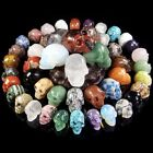 Hand Carved Skull Natural Crystal Healing Gemstone Realistic Carving Collectible image
