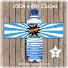 NERF BIRTHDAY PARTY PEEL & STICK PERSONALISED WATER BOTTLE LABELS X 5