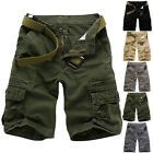 Military Men's Casual ARMY Combat Cargo Work Short Pants Vintage Shorts Trousers