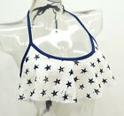 Endless Sun White Patriotic Stars Crochet Flounce Bikini Top Ladies #K16252T