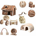 hamster c - Hamster Rat Hedgehog Natural Wooden Toys House Dumbell Cage Exercise Toys Wheels
