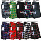 Внешний вид - Men's 5 Yard Scottish Kilts irish Tartan Kilt Highland Kilt Clearance Stock Sale