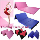 8FT Tapis de yoga gym fitness pilates sol pliant pliable & poignées gymnastique