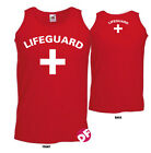 Lifeguard Vest Cross Fun Party Stag Party Red or White 2 side Mens fitted style