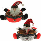 Santa Snowman Multi-Use Sweets Treats Wicker Basket Table Christmas Decoration
