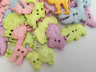 Pastel Animal shaped buttons ** mixed colours & assorted sizes **