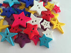 Bright Star shaped buttons ** mixed colours & assorted sizes **
