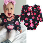 Sweet Newborn Kid Baby Girl Long Sleeve Romper Jumpsuit Bodysuit Clothes Outfit