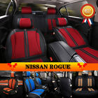PU Leather & Flax Bring Auto Car Seat Cover Mat Fits Nissan Rogue C37LJ 4 Color