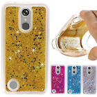 Bling Hybrid Liquid Glitter Rubber Protective Soft Case Cover For LG Stylo 2 / 3