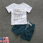 Kids Toddler Boys T-shirt Tops Blouse+Shorts Pants Clothes Set Summer Outfits