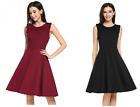 Zeagoo Skater Dress A-Form Empire Abendkleid Sommerkleid Damen Kleid rot schwarz
