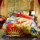 Oriental Dragon Single Queen King Size Quilt/Duvet/Doona Cover Set Sheet Fitted
