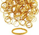 144 Gold Coloured Rings Wedding, Party Favour, Table Card decoration / accessory