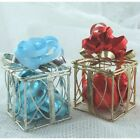 Unusual Metal Gift/Parcel Xmas Favour Holder Silver or Gold Pk 2, Place Holder