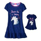 """Girl 4-14 and 18"""" doll matching nightgown pajamas ft Dollie Me & American Doll"""