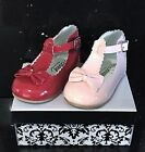 Spanish Patent Style SEVVA Baby Infant Girls Diamante Shoes Pink / Red 2/5/6