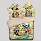 Animals World Quilt/Duvet/Doona Cover Set Fitted Sheet Single Queen King Size