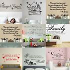 Removable Quote Mural Words Art Vinyl Wall Sticker Home Kitchen Room Decal Decor