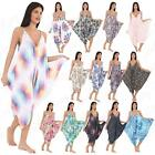 Womens Ladies Lagenlook Hareem Printed Summer Cami Playsuit Romper Jumpsuit