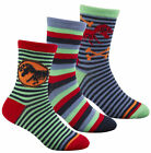 3 Pair Boys Dinosaur Ankle Socks Cotton Socks Size  6-8.1/2,  9-12, 12.1/2-3.1/2