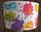 Paint Splash Lampshade Shabby Chic vintage pink, white, blue, green,  FREE GIFT