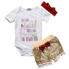 Newborn Infant Baby Girls Clothes Romper Jumpsuit Bodysuit Pants Outfit Set USA