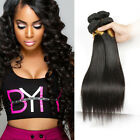 New Natural Wave Straight 100% Real Human Hair Wavy Weave Weft Extensions 100g