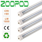 10 20pc 8FT 36W 6500K LED Light FA8 Single Pin Fluorescent Replacement T8 Tube