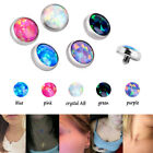 Titanium Piercings Micro Opal Dermal Anchor Top Jewelry Dermal Flat Head Surface