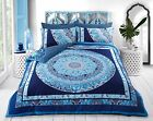 NEW Pieridae Paisley Mandala Blue Duvet Bedding Cover Set With Pillow case