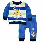 Disney Winnie The Pooh Baby Boys Outfit Set Jumper Top Trousers 3-24 Months <br/> Babies Tracksuit Sweatshirt Warm New 2017 Boy Official