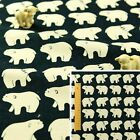 NAVY Fat Quarter/Meter | Linen Hessian Fabric FQ Sew Craft Christmas Polar Bear