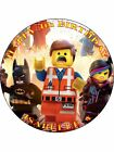 THE LEGO MOVIE PERSONALIZED ICING CAKE TOPPER'S VARIOUS SIZES