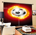 3D Football 014 Blockout Photo Curtain Printing Curtains Drapes Fabric Window AU
