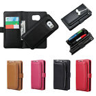 PU Leather Clutch Purse with Magnetic Detachable Wallet Case for Samsung S7