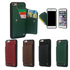 Shockproof Protective Wallet Leather Case with Card Slots for iPhone 6/6S Plus