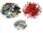 700-800pcs Cut-out Metallic CONFETTI HEARTS Table / Bed Decoration Scatter #4832