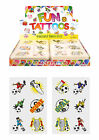 Childrens 36 or 72 Football temporary tattoos party bag stocking fillers