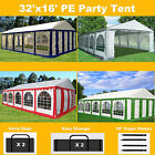 32'x16' PE Party Tent Color Tents - Heavy Duty Carport Canopy Wedding Shelter