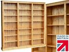 Large Wood Bookcase, 7ft x 7ft Solid Pine Library Display Shelving, B͏ookshelves