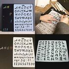 Lettering Stencil Letter Alphabet Stencils Painting Paper Craft Number UK