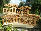 Wooden Word Art - Abstract Carvings - Assorted Designs Hope Etc