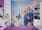 3D Butterfly 18 Blockout Photo Curtain Printing Curtains Drapes Fabric Window AU