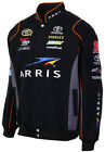 Carl Edwards Arris Mens Black Cotton Twill Nascar Jacket by JH Design