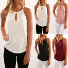 Womens Vest Tank Top Strappy Ladies Vest Plain T Shirt Vest Tee Beach Holiday