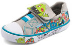 Start Rite BOO GREY Boys Canvas Riptape Shoes 4 - 6 Fit NEW BOXED